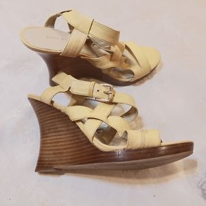 Nine West  Cream Wedge Heel Size 8.5
